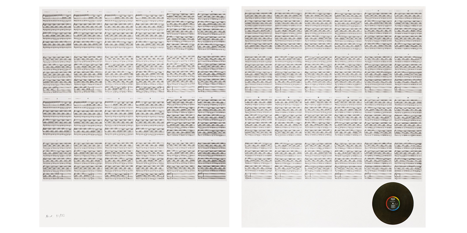 Hanne Darboven,<br/>24 Chants 1990
