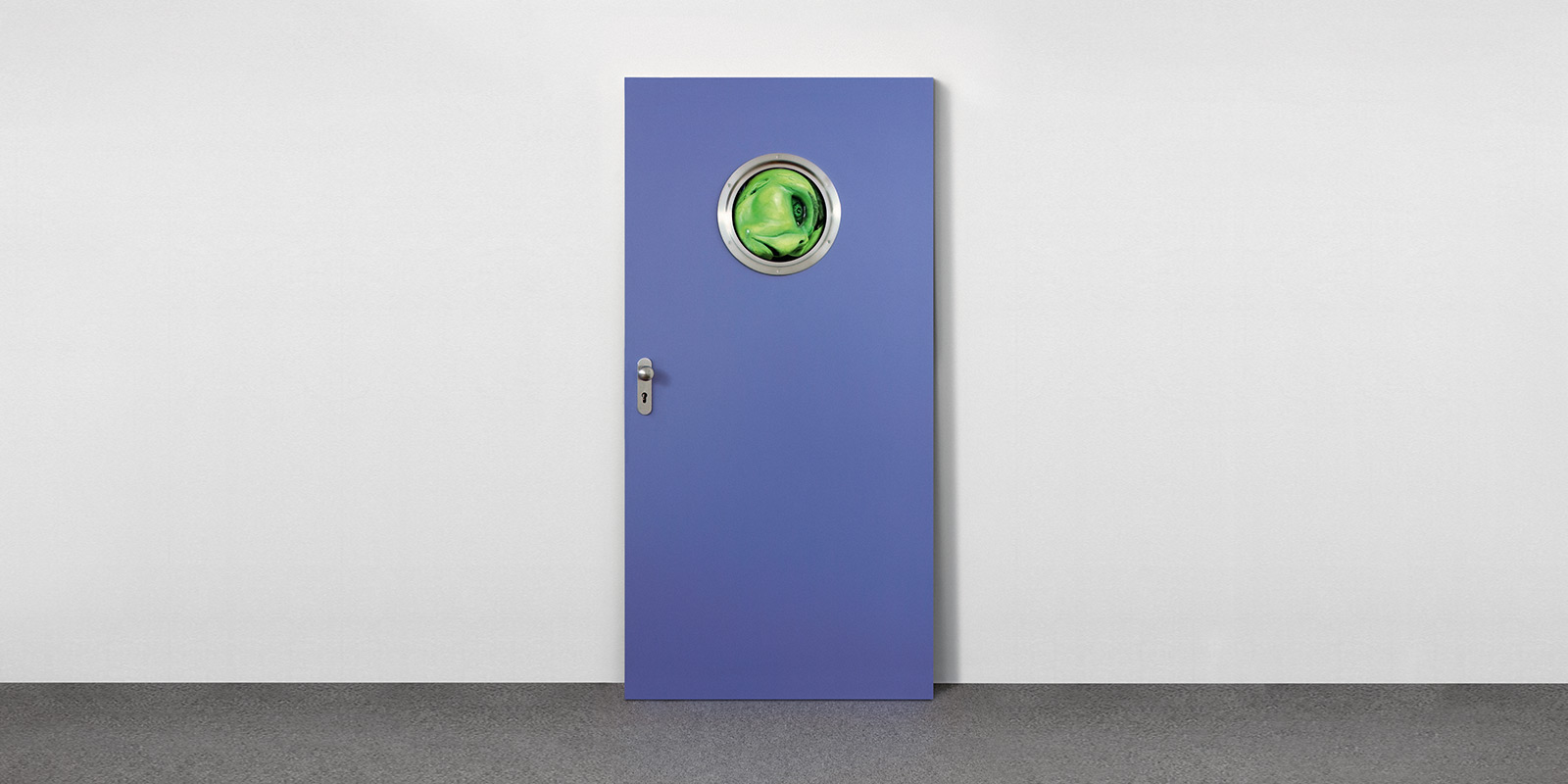 Tony Oursler, Fool, from Door Cycle
